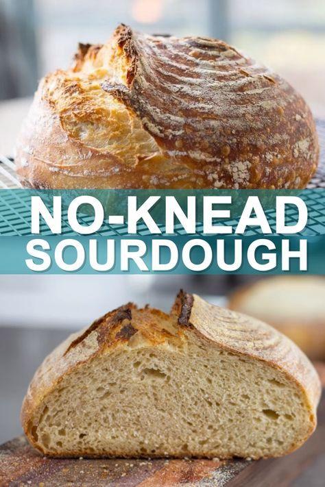 No-Knead Sourdough, Beginner Sourdough Bread| Bake