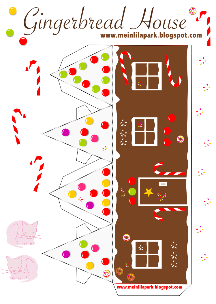 Gingerbread house free printables - Today I Created My Free Printable Gingerbread House For You This Paper House Has A Different Size And Template