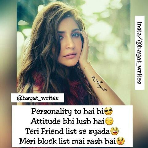 Pin By Soha Khan On Quotes Pinterest Girly Attitude Quotes