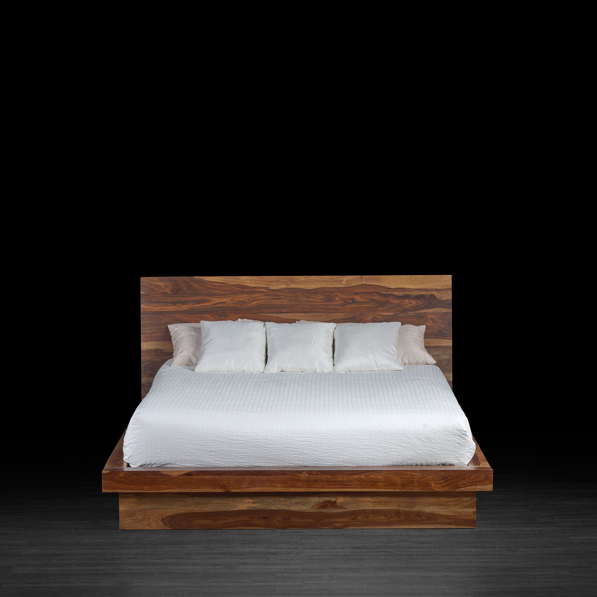 Chambre Bois Massif Contemporain Industrial Style Tan Bed Made Of Rosewood Chambre à