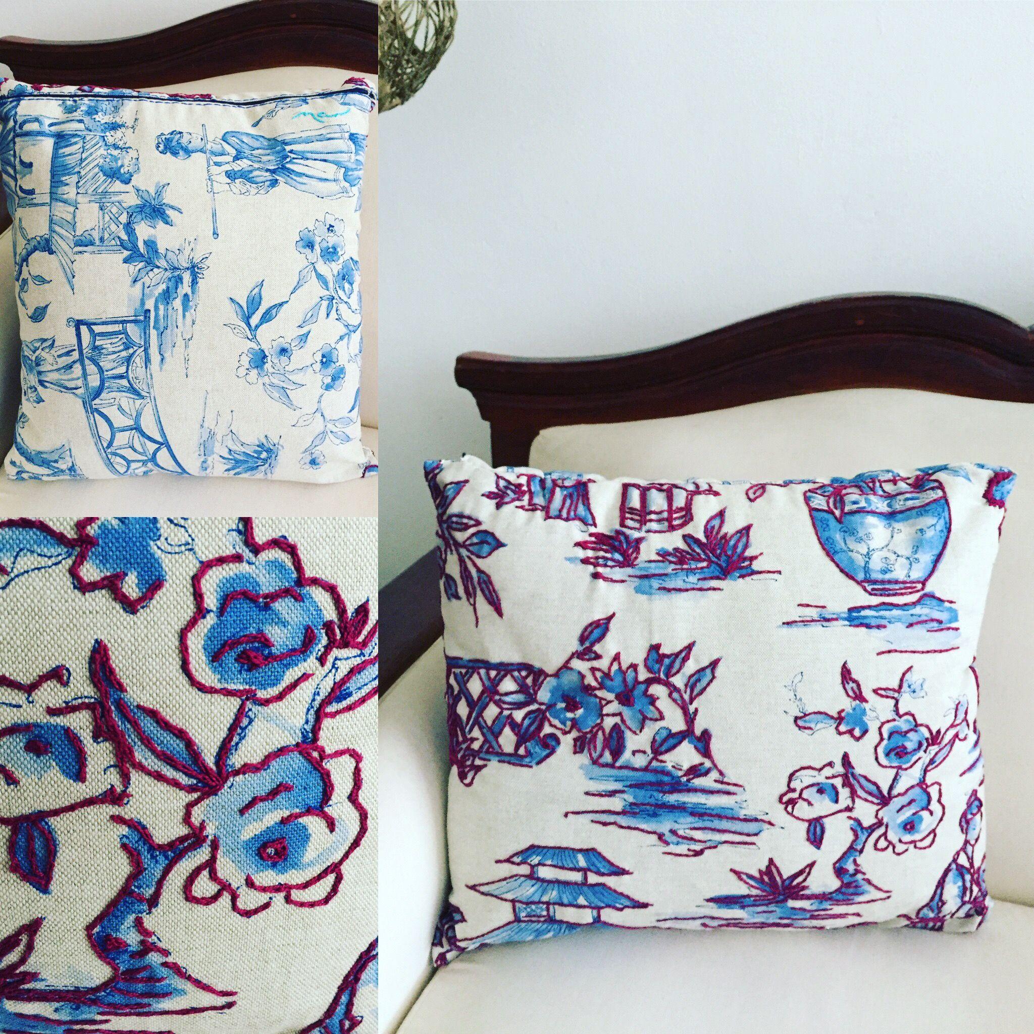 "China Pillow 45cmx40cm/ 17""x15"" Handmade Pillows by Mar 🛋🛋 Cojines hechos a mano por Mar.  www.marlifeshop.com WhatsApp 📲 WhatsApp (507)62523992 #hechoamano #handmade #panama #panamacity #marlifeshop #decoradorespanama #onlineshop"