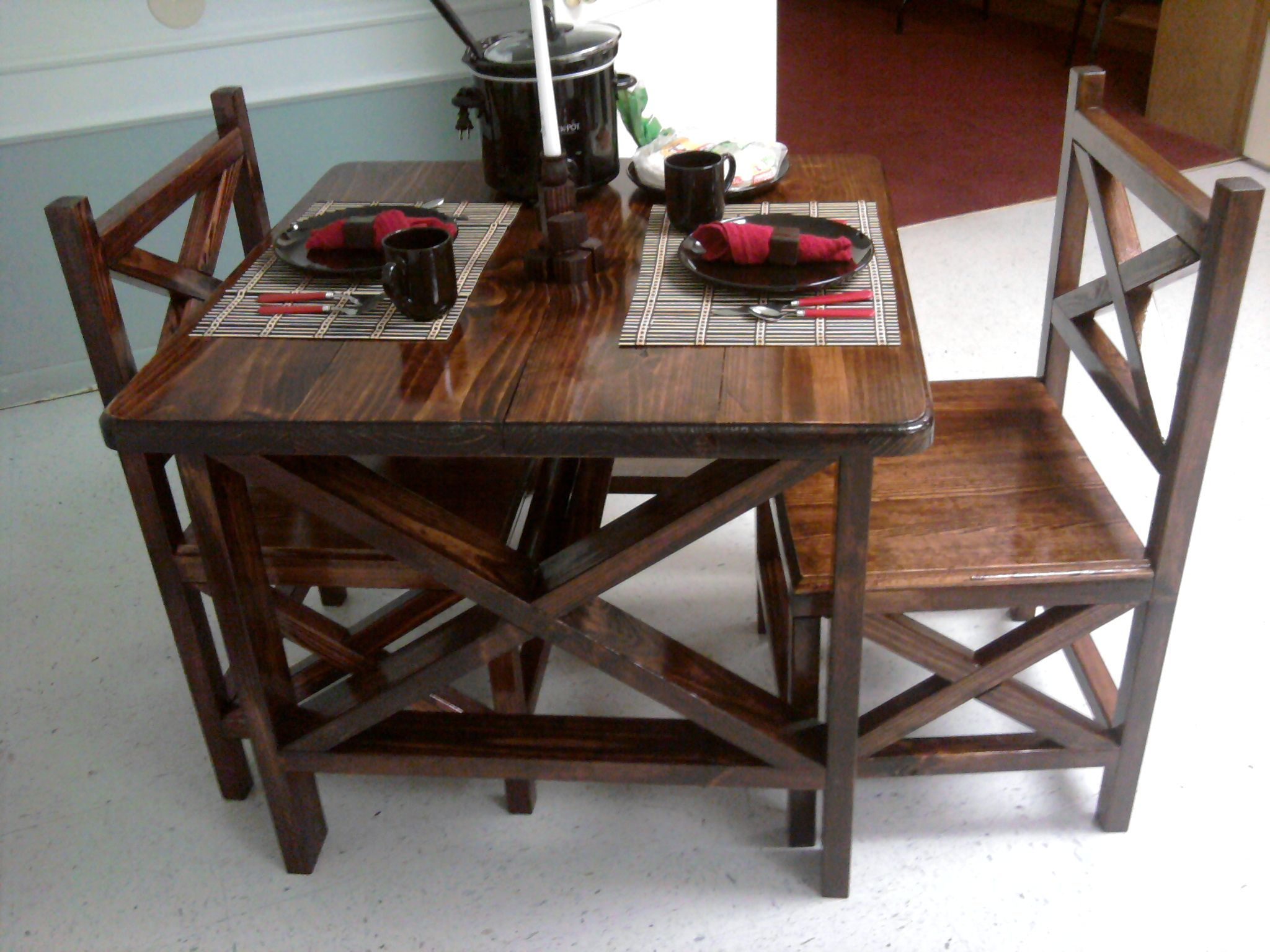 Superb Rustic X Table And Chairs Do It Yourself Home Projects Alphanode Cool Chair Designs And Ideas Alphanodeonline