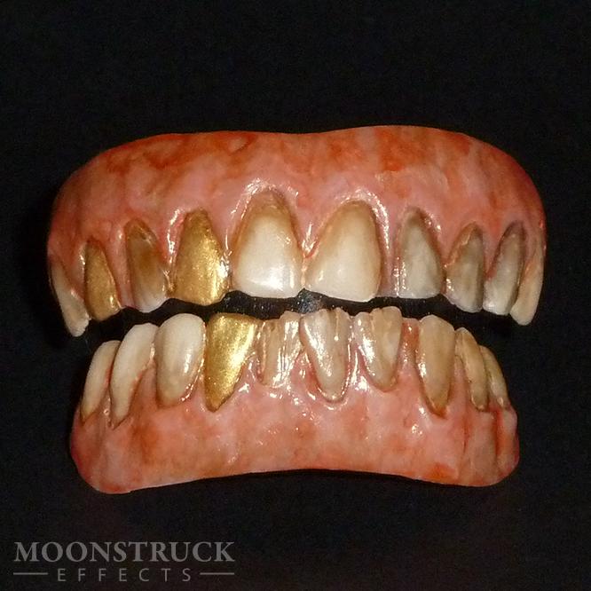 Pirate Chronos Teeth Completed With Gold Teeth Teeth Gold Teeth Dental