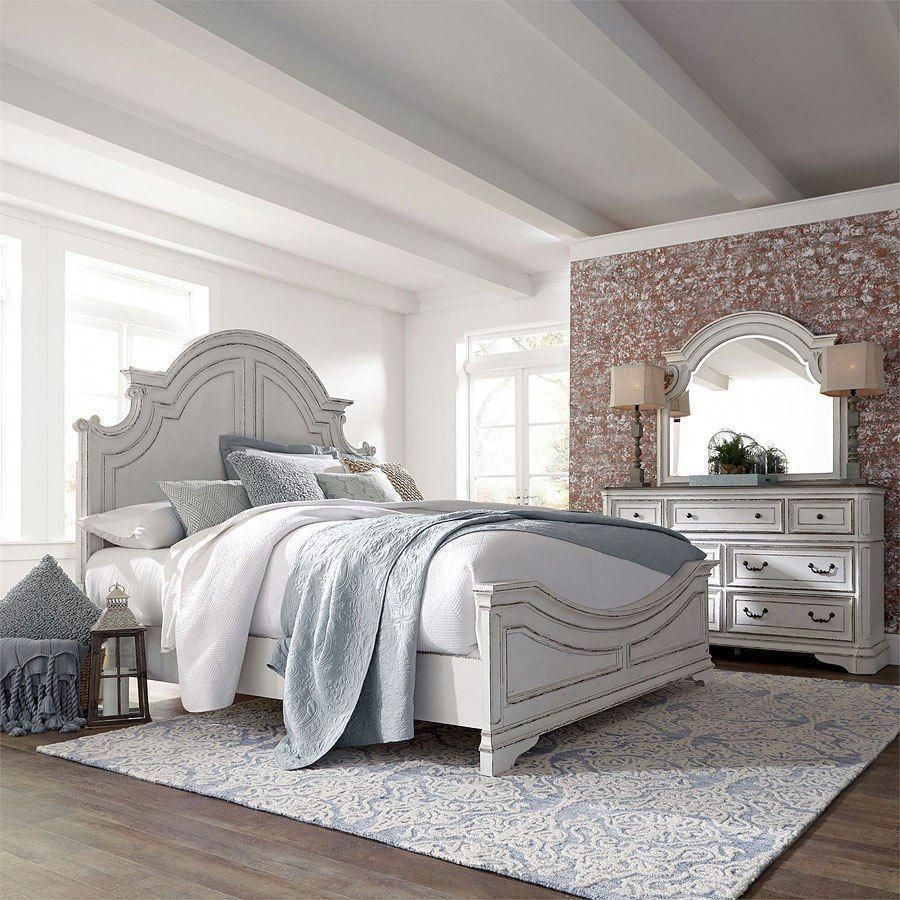 Magnolia Manor Antique White Panel Bedroom Set in 2020