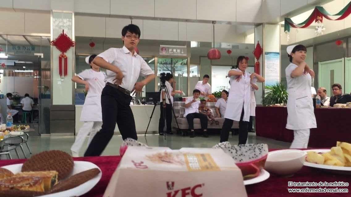 Familia Lesser Bairam Caliente Celebrar Juntos En Shijiazhuang Hospital de Enfermedaded del Riñón