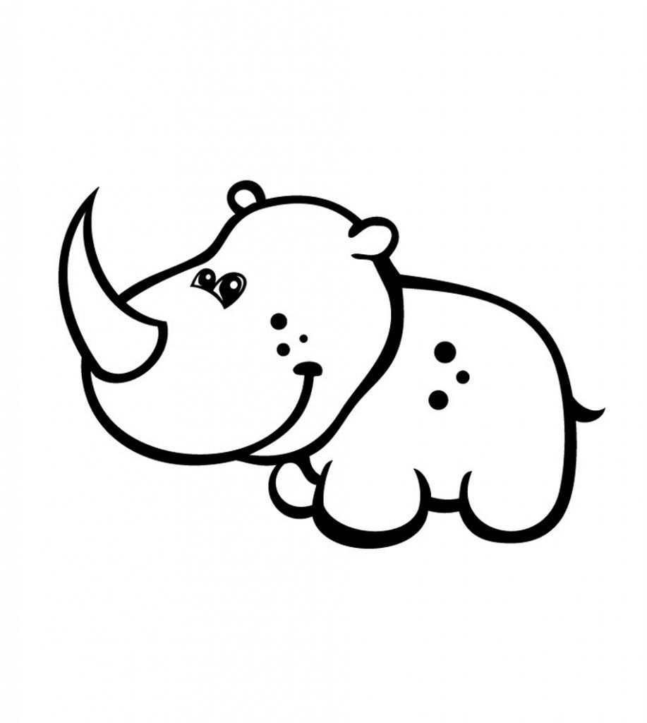 Free Printable Rhinoceros Coloring Pages For Kids Cute Coloring