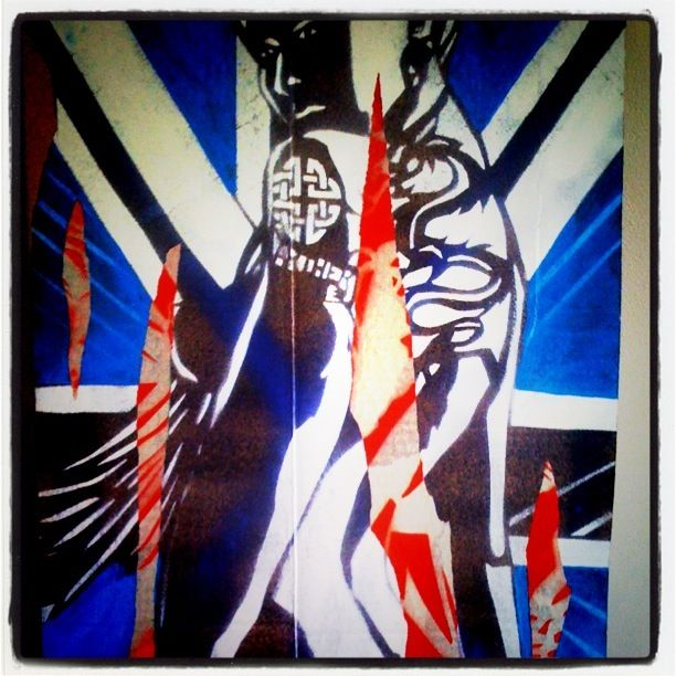 Lady of the Lake by CopyRight. #UK #Streetart #stencil