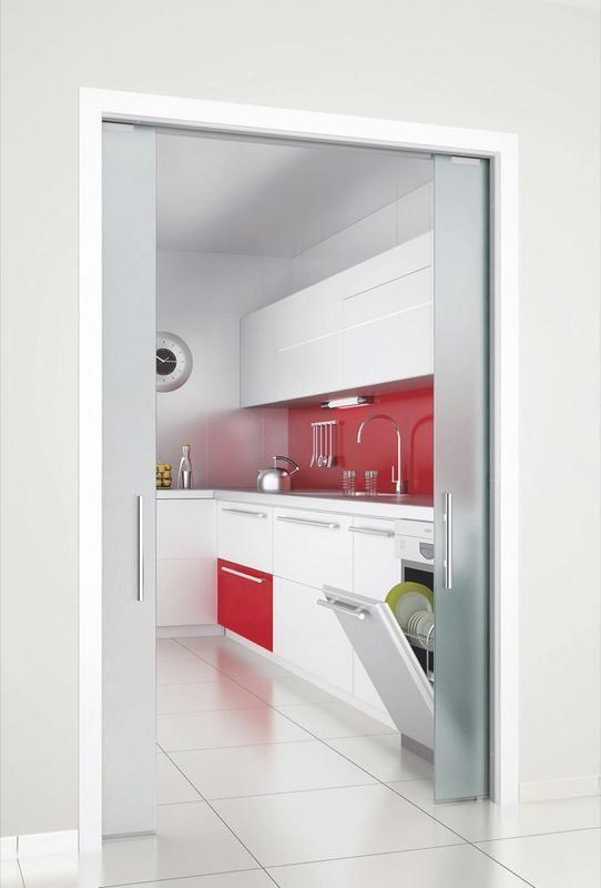 Puertas para ganar espacio gates fences and doors - Puerta cristal cocina ...