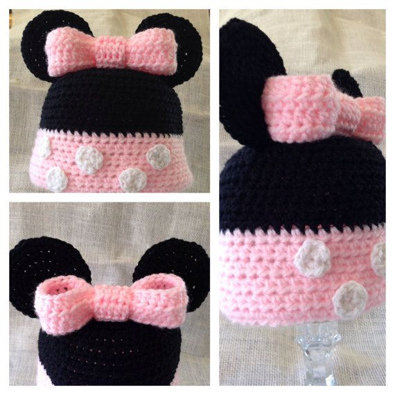 PDF Pattern Minnie/Mickey Mouse Crochet Hat by SkyesLoopyCreations ...