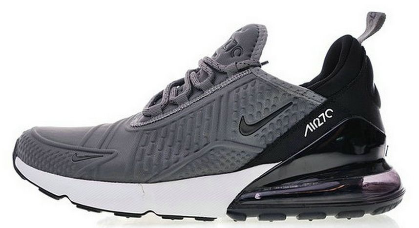 online retailer 4394e a3889 Nike Air Max 270 Flyknit Grey White Bkack Ah8060 002 New Style Sneaker