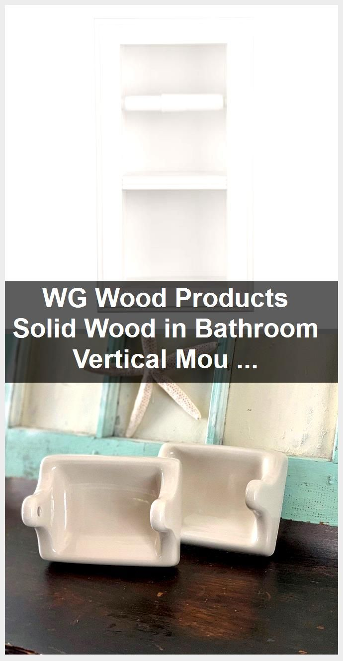 Photo of WG Wood Products Solid Wood in Bathroom Vertical Mount Wall Hugger Double Recessed Toilet Pap…