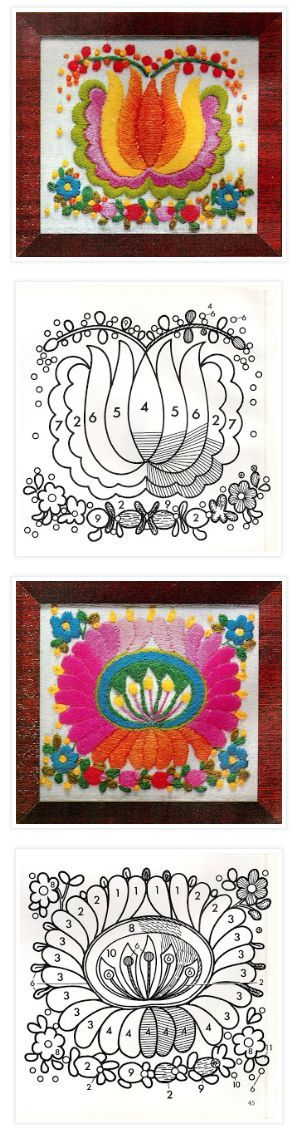 Free Vintage Embroidery Patterns Hungarian Panels Hungarian Panels