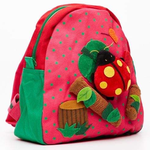 Childrens' lady-bug backpack
