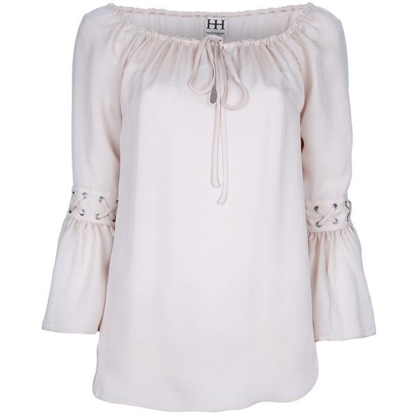 HAUTE HIPPIE peasant top ($245) via Polyvore