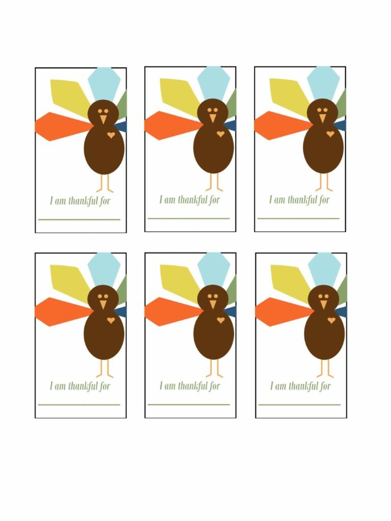 "Printable ""I am thankful for"" printable Thanksgiving cards ..."