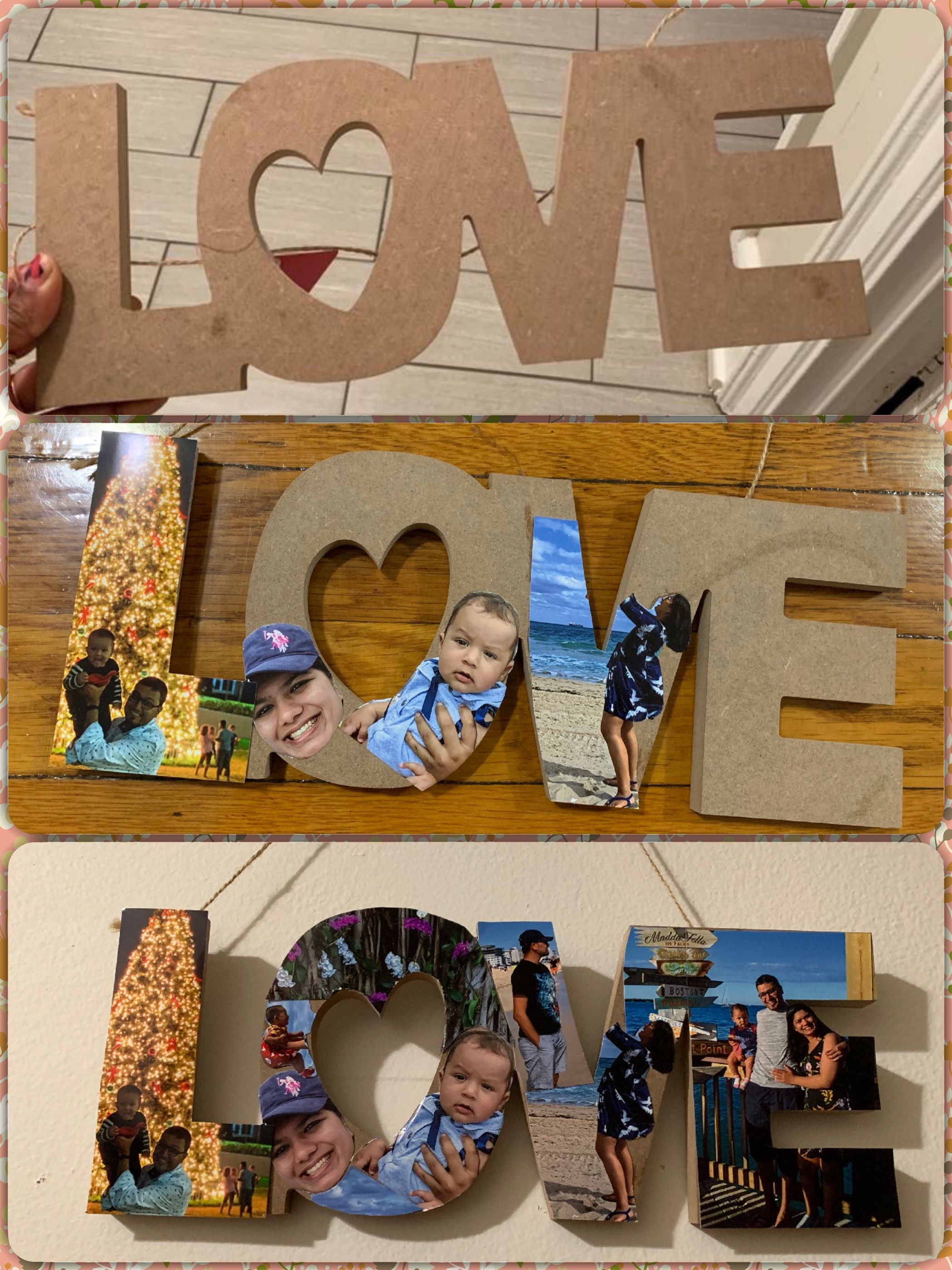 Make A Special Gift For Your Valentinesday With This Dollartree Diy You Need 1 Dollartree Love 2 Old Dollar Tree Crafts Diy Photo Projects Tree Crafts