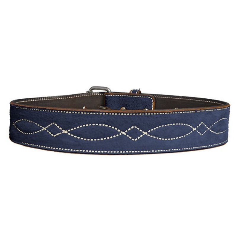 "Rebecca Ray 2"" Suede Bridle Stitch Belt"
