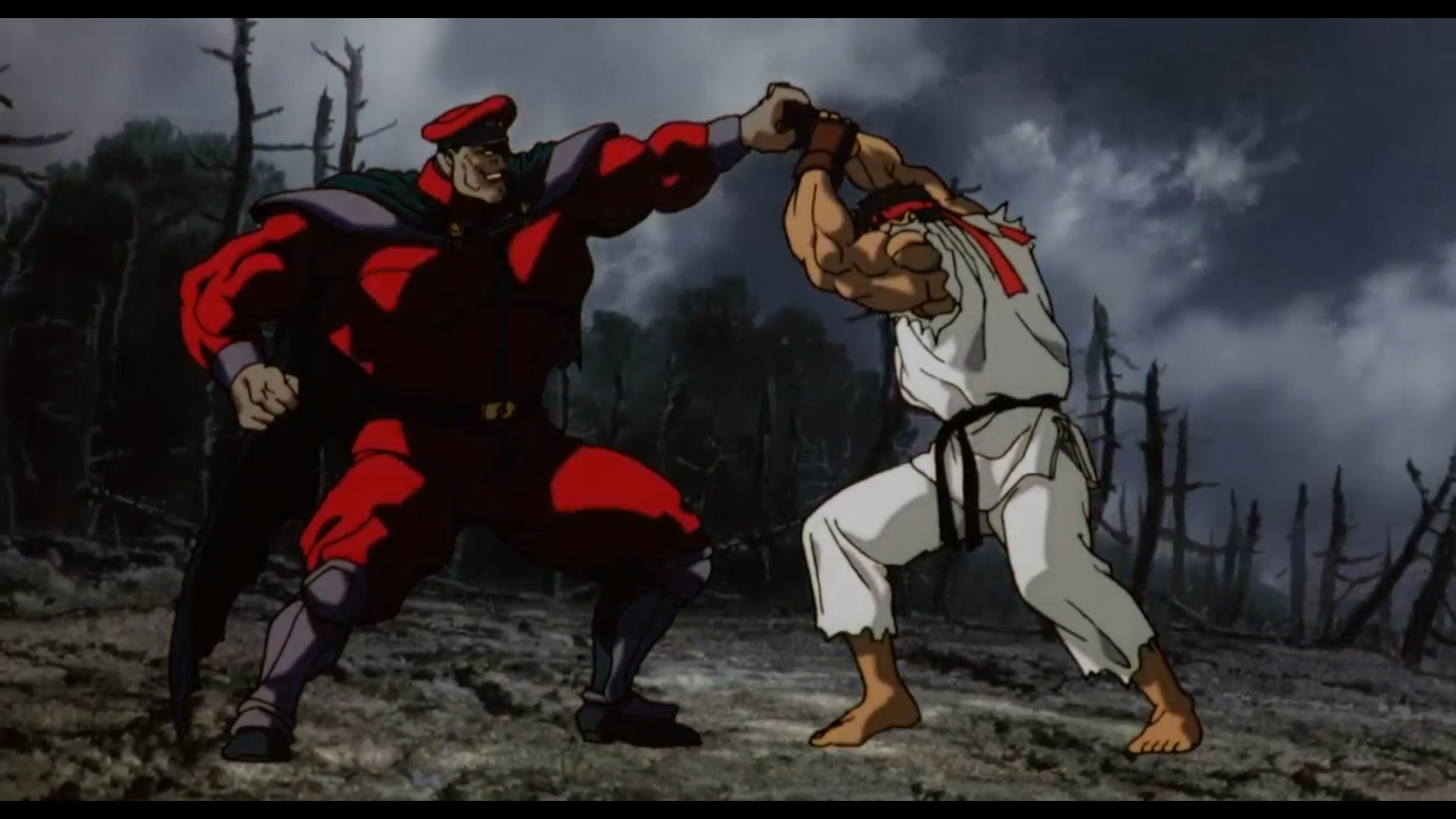 Street Fighter Ii The Animated Movie M Bison Vs Ryu Ken Masters