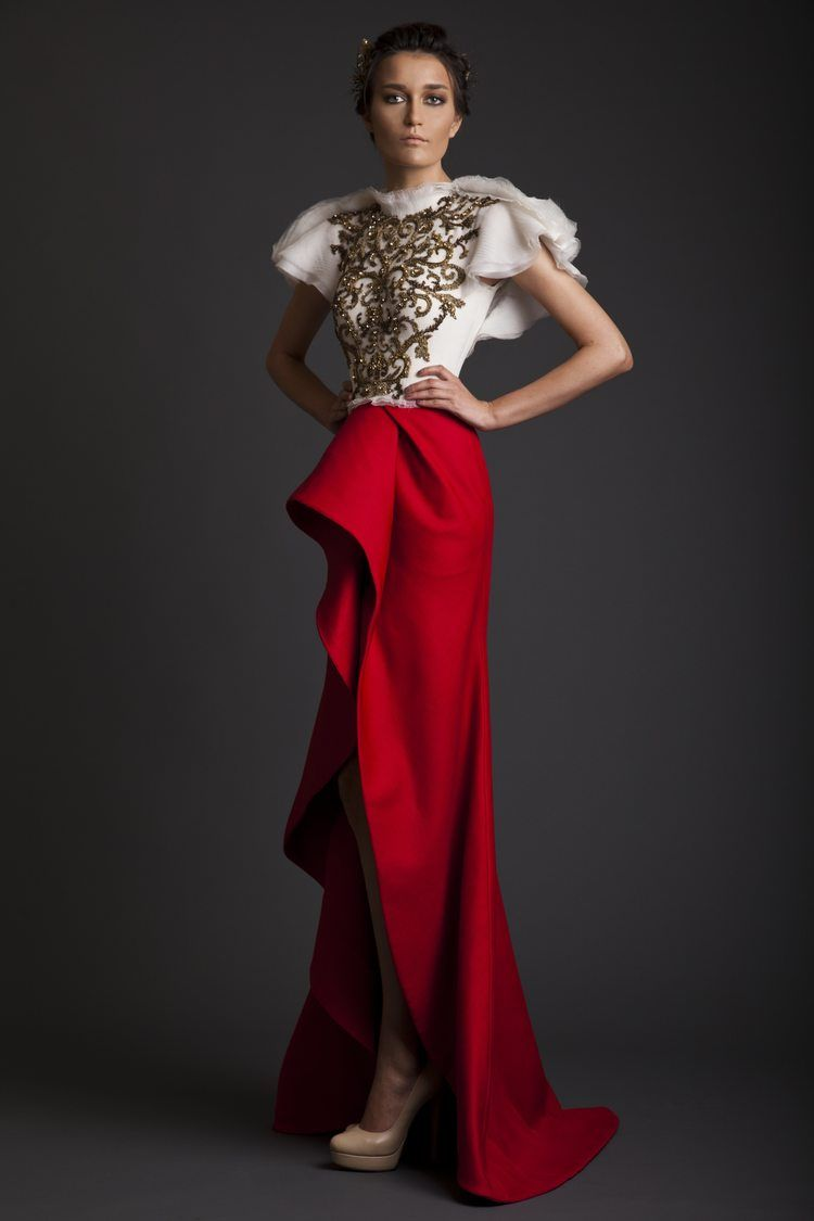 krikor jabotian. red skirt . falda roja