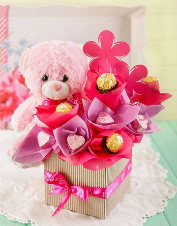 Order Edible Range Online Sameday Delivery Valentine Bouquet Valentines Candy Bouquet Chocolate Bouquet Diy