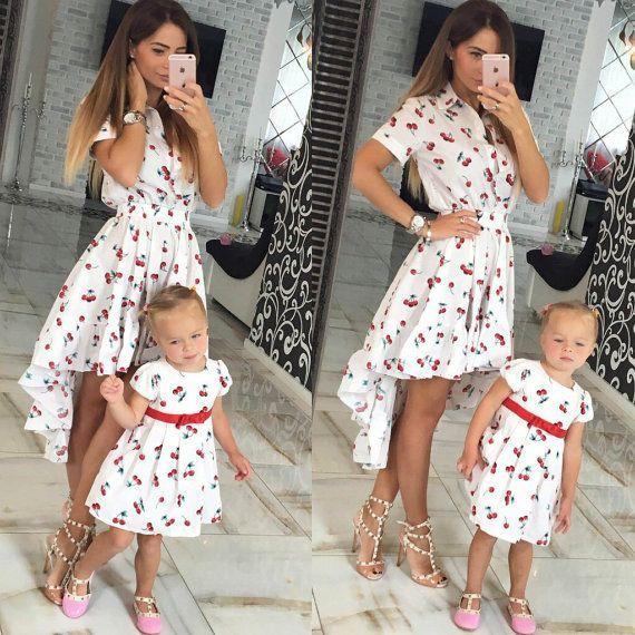 Vestiti Eleganti Mamma E Figlia.Bella Estate Di Corrispondenza Abiti Per Mamma E Figlia Con La