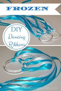 Make Your Own FROZEN Dancing Ribbons Inexpensive party favors
