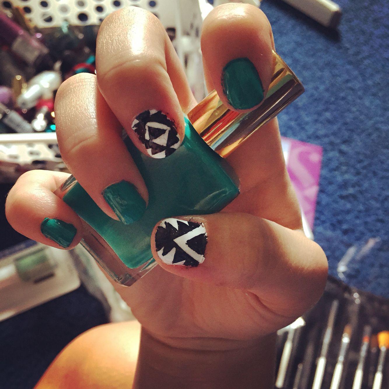At home nail art idea