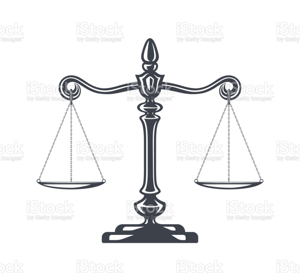 Balanced Scale Justice Icon Symbol Court Legal Can Can Direito