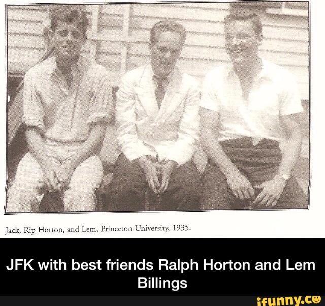 JFK with best friends Ralph Horton and Lem Billings