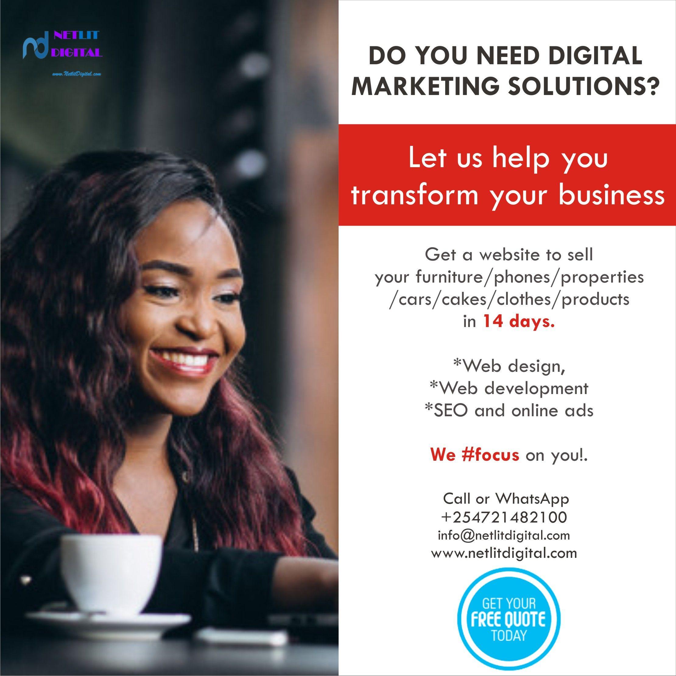 Top Website Designs In Kenya In 2020 Top Website Designs Digital Marketing Solutions Custom Web Design