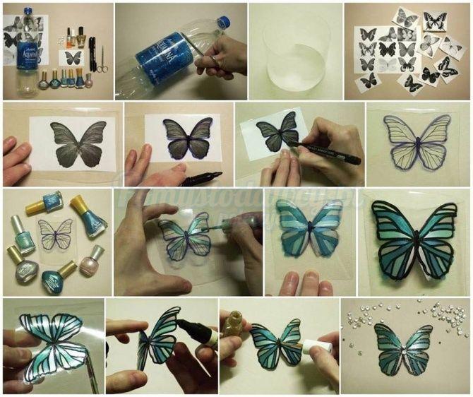 Pomyslodawcy Pl Serwis Bardziej Kreatywny Diy Butterfly Butterfly Crafts Plastic Bottle Crafts
