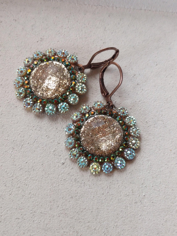 70e6ace7885 Vintage Style Cabochon Drop Earrings, Elegant, Romantic, Antique ...