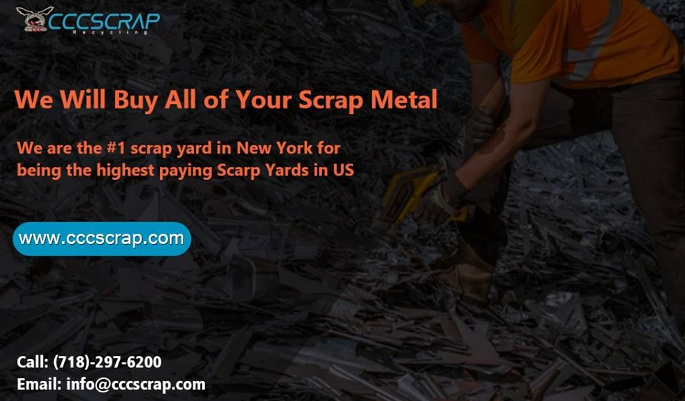 Sell your scrap metal at cccscrap and committed to making