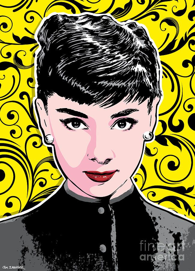 Audrey Hepburn Pop Art Digital Art | Comic | Pinterest | Kunst ...