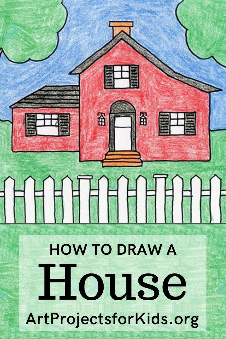 Draw a House in 2020 | Drawings, Kids art projects, Art ...