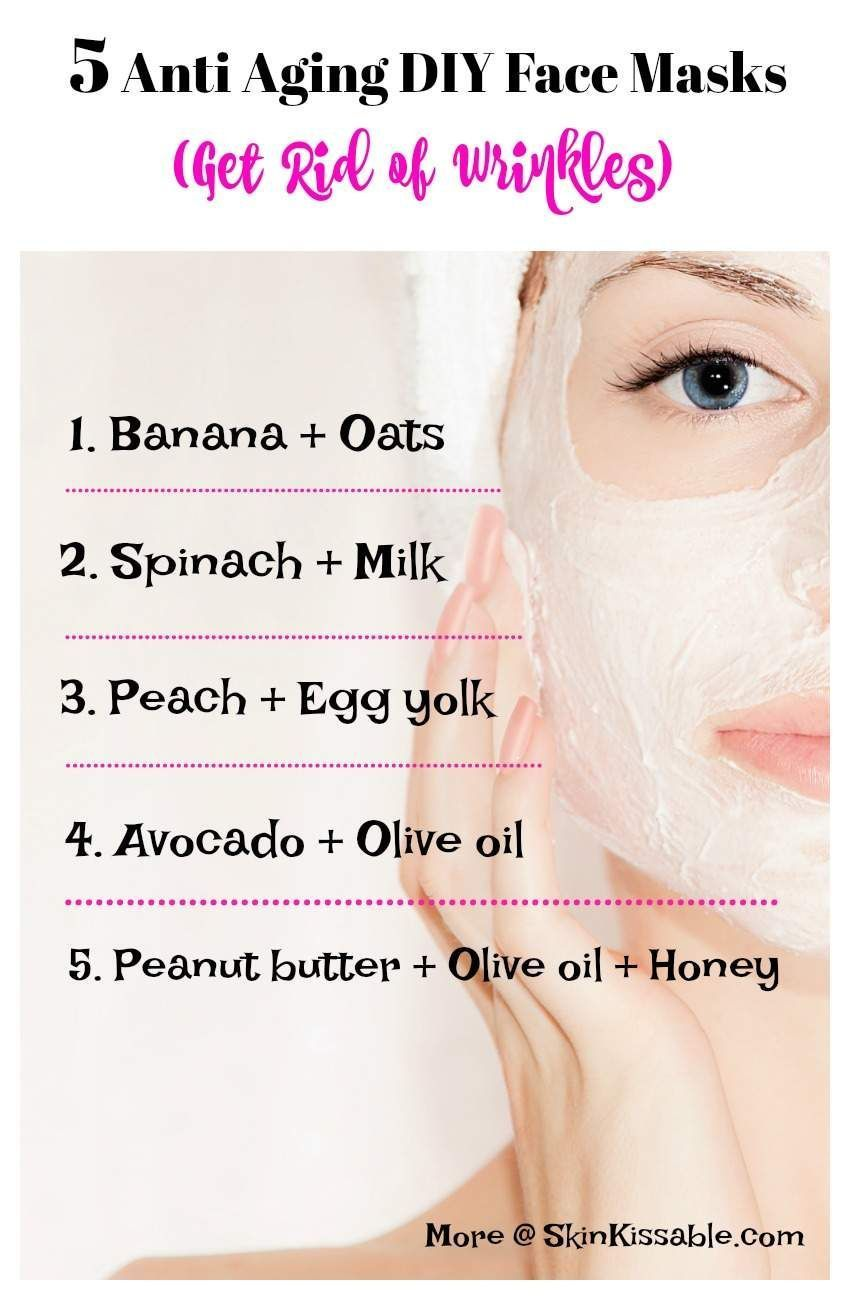 Diy Natural Anti Aging Face Masks To Reduce Wrinkles And Fine Lines Discover How To Look Younger Wi Face Mask Anti Aging Face Mask Wrinkles Skin Care Wrinkles