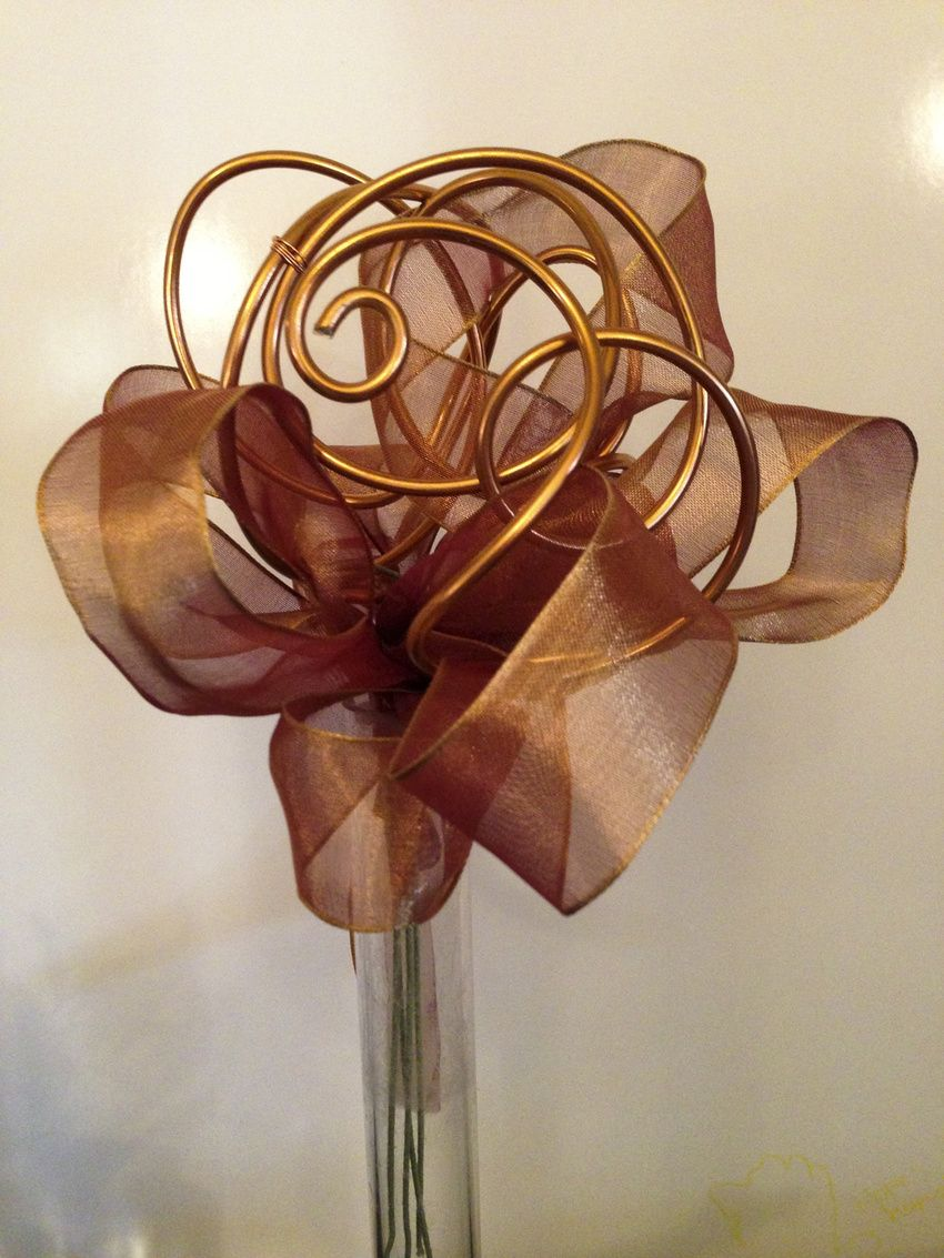 Ribbon and wire flower bouquet.. | Wedding stuff. Because I\'m ...