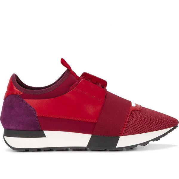 Red leather shoes, Balenciaga, Womens