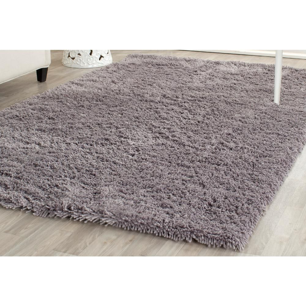 Classic Shag Ultra Gray 4 ft. x 6 ft. Area Rug