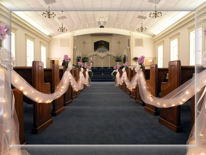 Love the lighted tullea definite aisle possibility our dream traditional church wedding decor 2014 set of amazing church wedding decoration browse the latest wedding themes to choose the best church weddng design to junglespirit Image collections