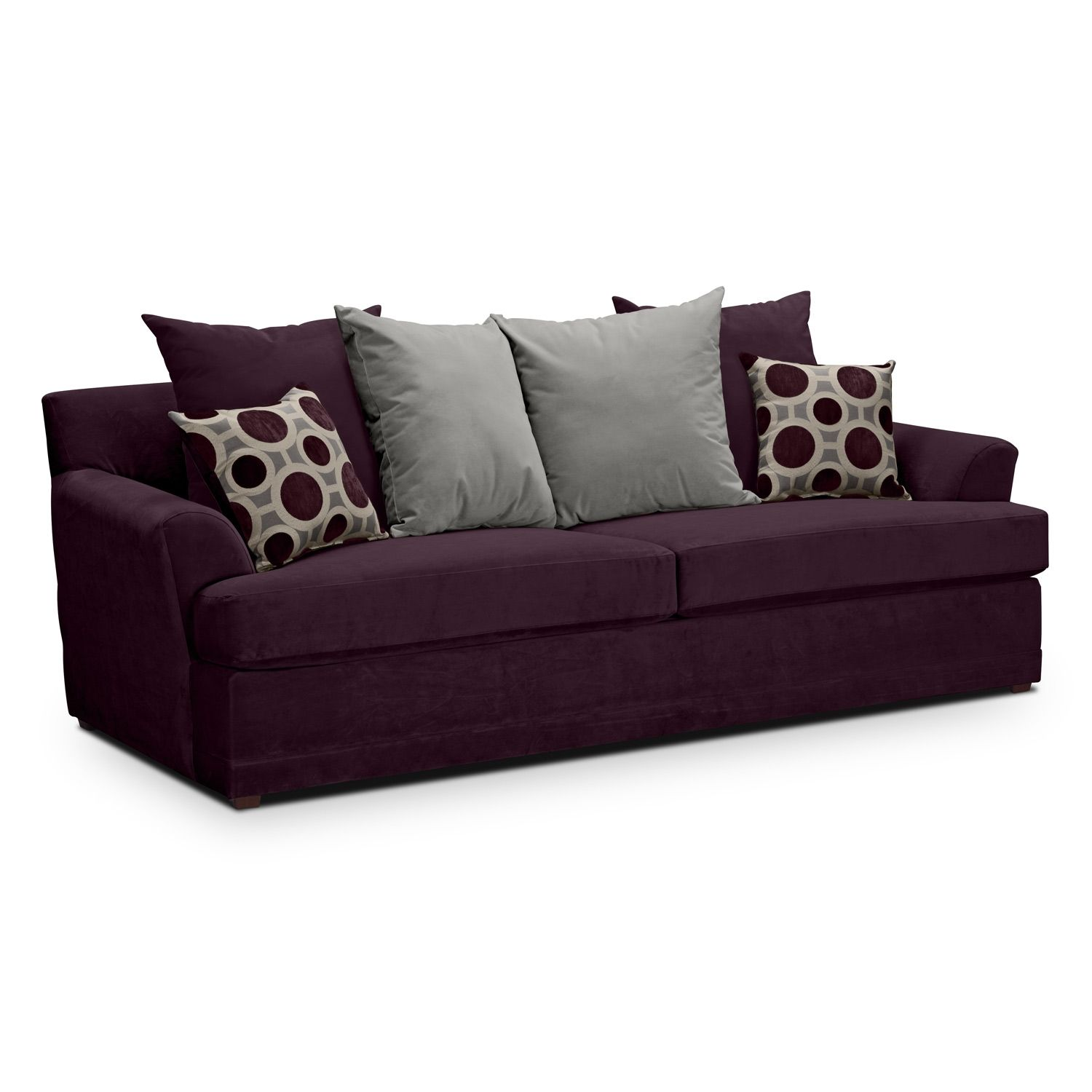 your drawing living loveseat colour sofa how a to decor cute couch room and purple grey velvet lavender plum match
