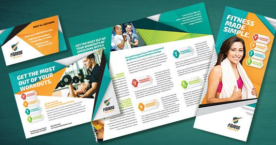 Get your marketing in shape with fitness trainer designs for Fitness brochure design