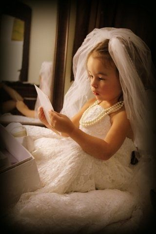 Wedding dress on your little girl...make a keepsake for her to have ...
