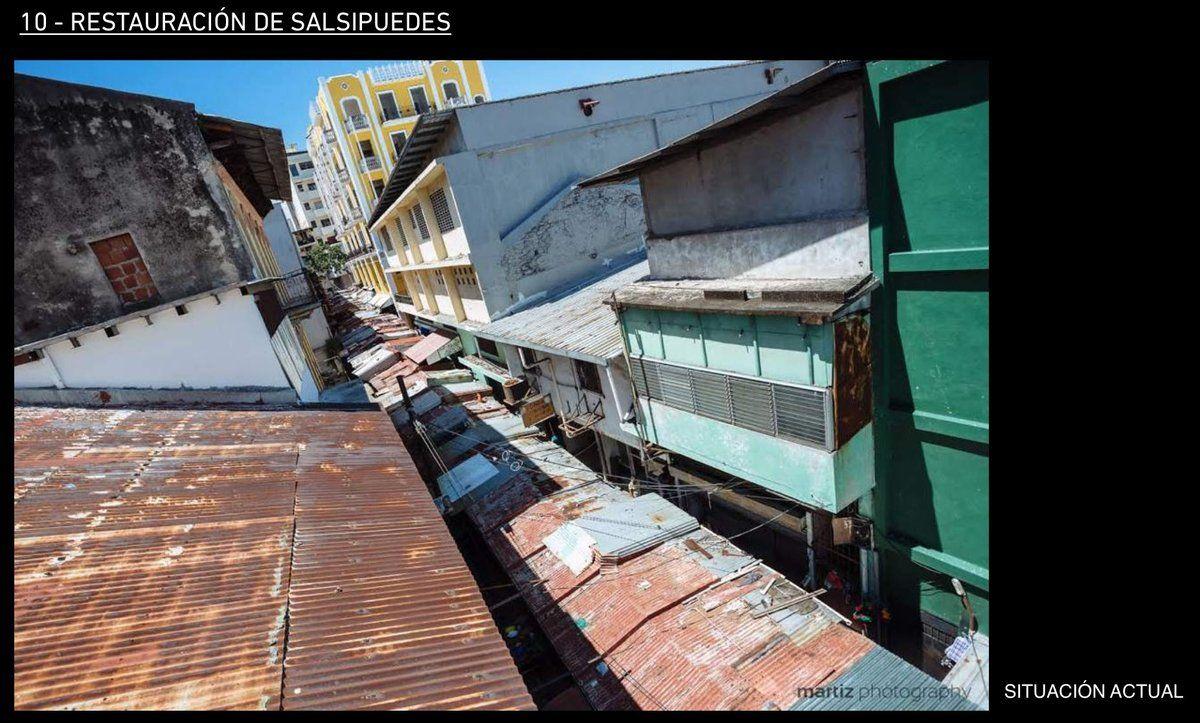 Una vista desde arriba de Salsipuedes (al centro) ciudad Panamá, en remodelación @BlandonJose