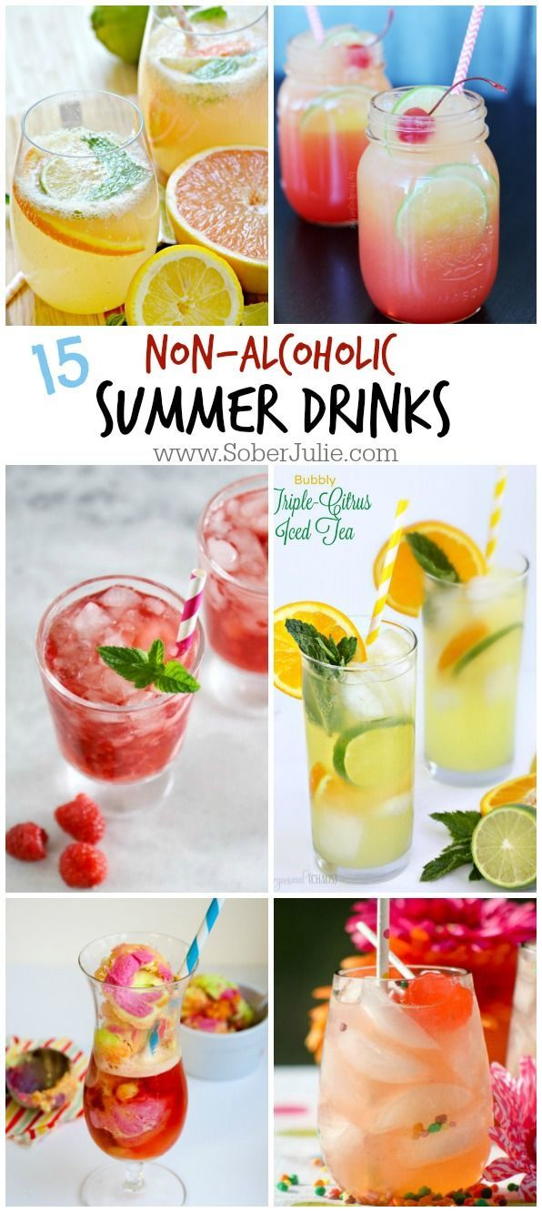 15 Non-Alcoholic Drink Recipes for Summer - Sober Julie