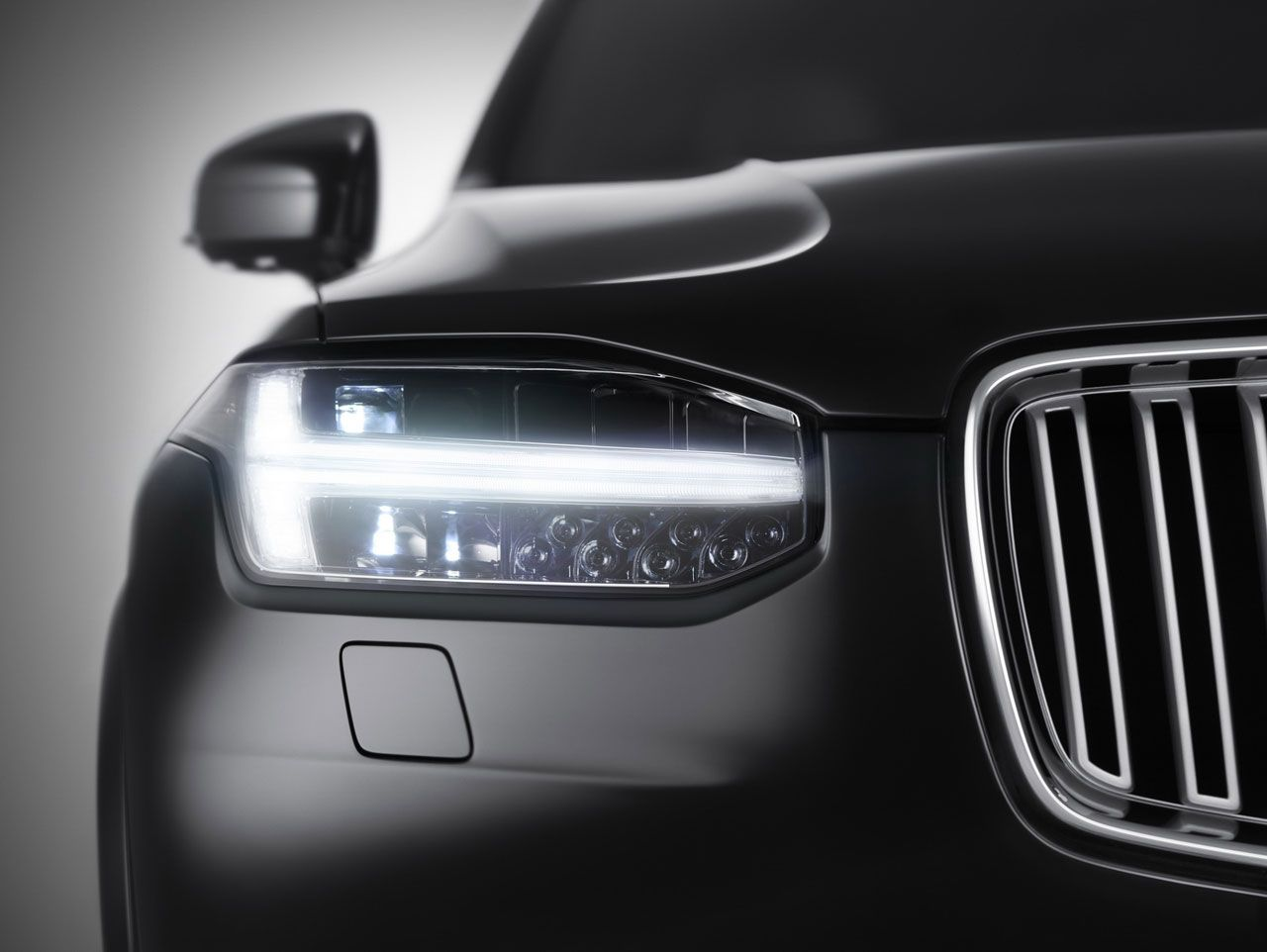 Volvo Xc90 Headlight Design Detail Farois Do Carro Volvo