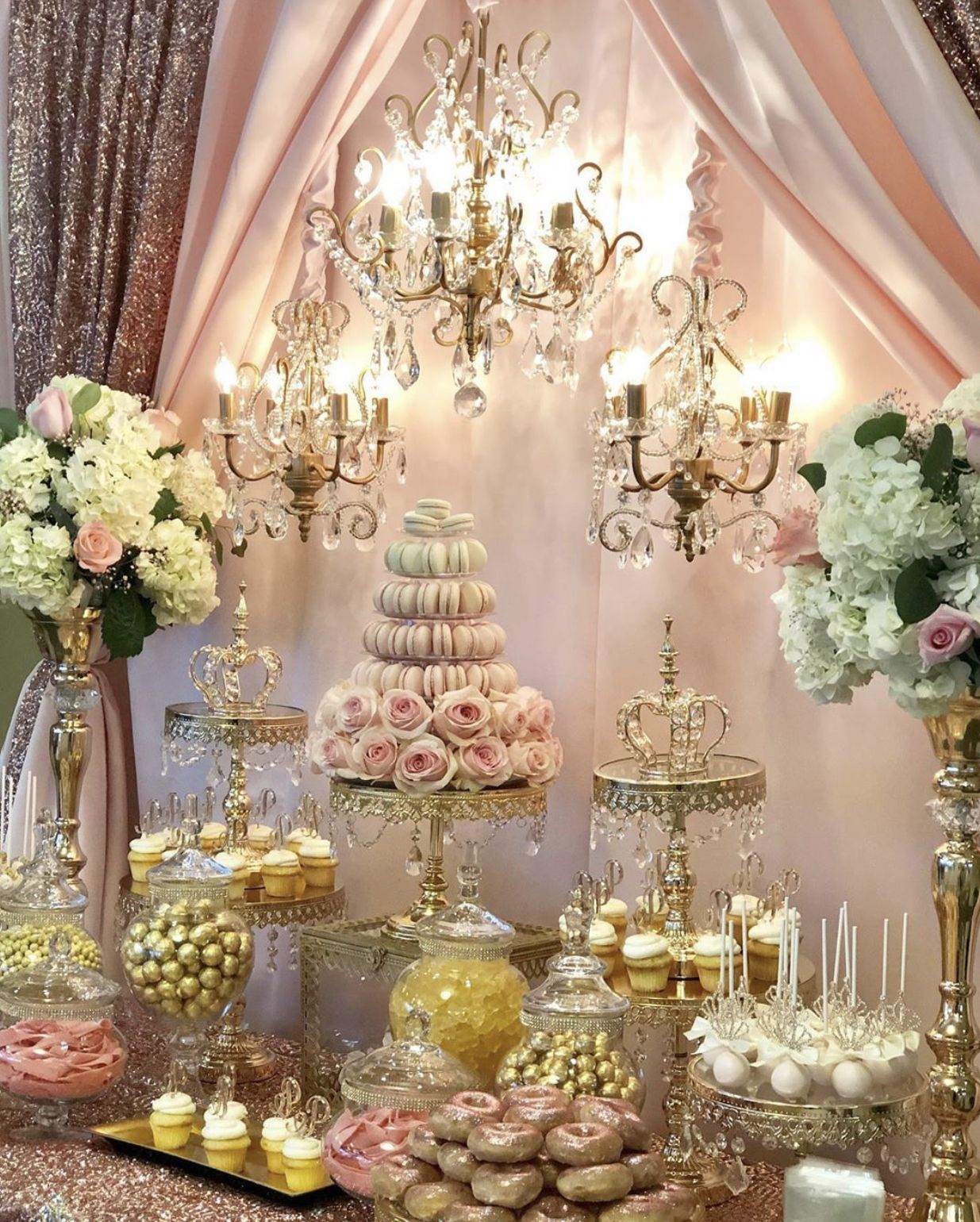 Royal Quinceanera -   12 sweet 16 desserts Table ideas