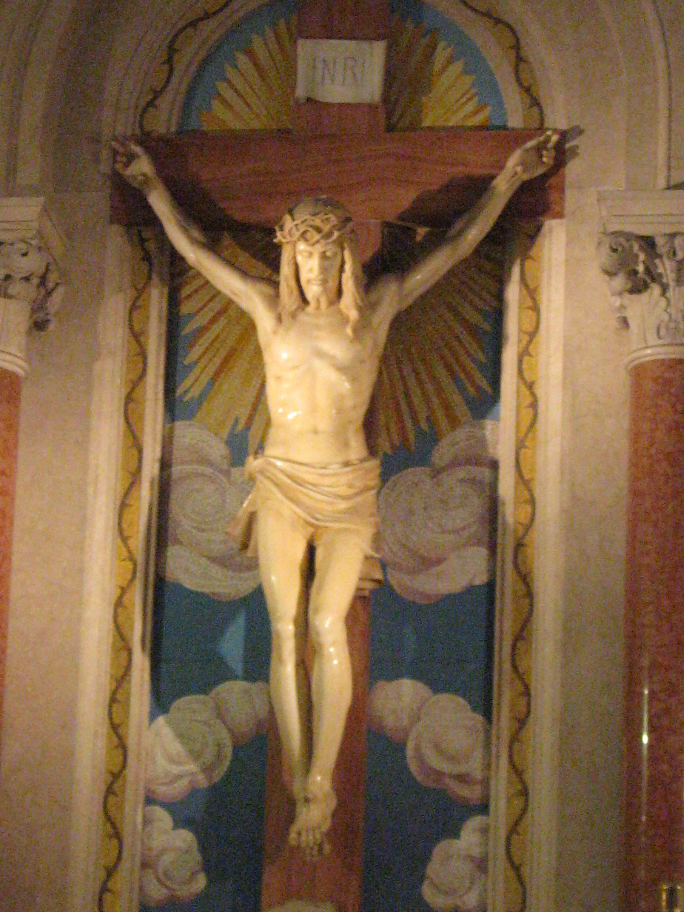 This is a photograph of a crucifix modeled after the Holy Shroud of ...