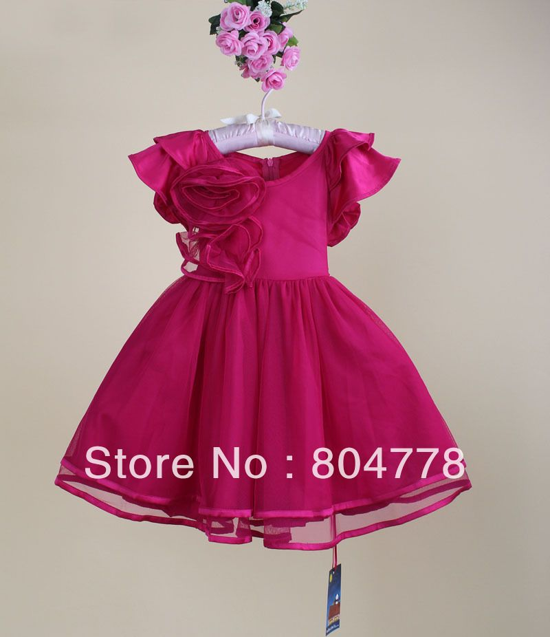 New Fashion Wedding baby girl Dress flower Girl's 2013 red ...