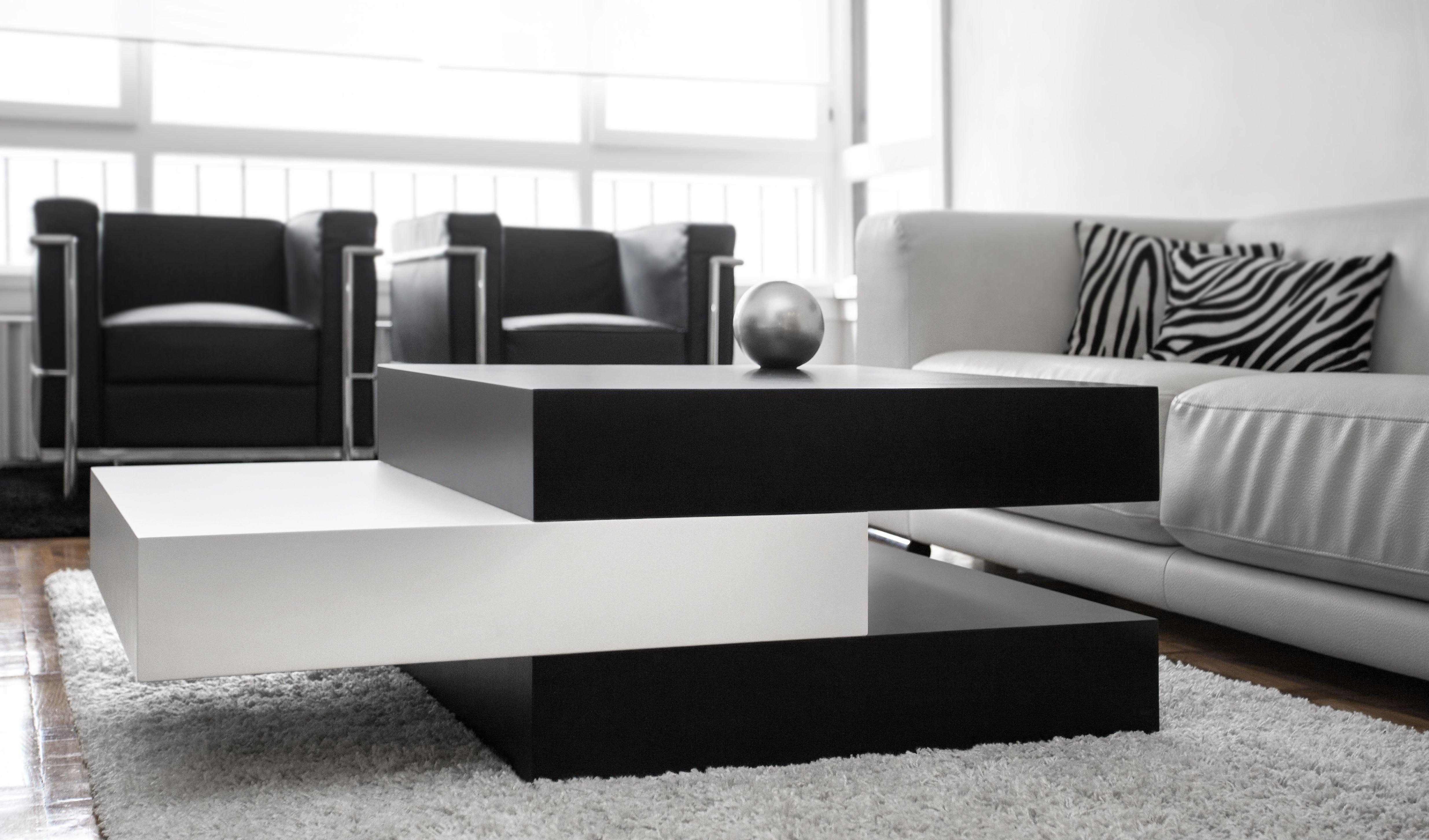 Mesa de centro pensilvania mesa modular de madera lacada - Mesas de arquitectura ...